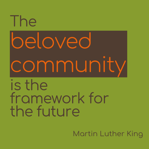Aufkleber 10 x 10 cm Martin Luther King Zitat