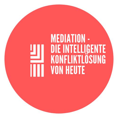 Aufkleber 10 x 10 cm: Mediation...